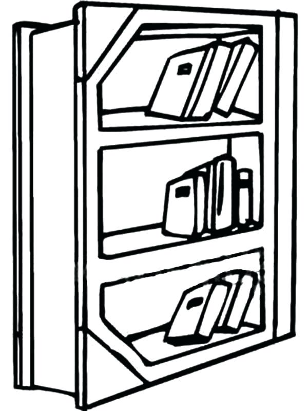 600x800 Bookshelf In The Library Coloring Pages Best Place To Color