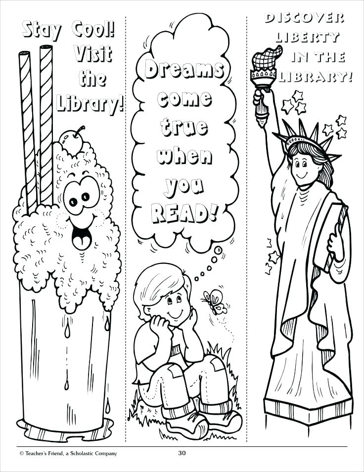 736x955 Bookmark Coloring Pages