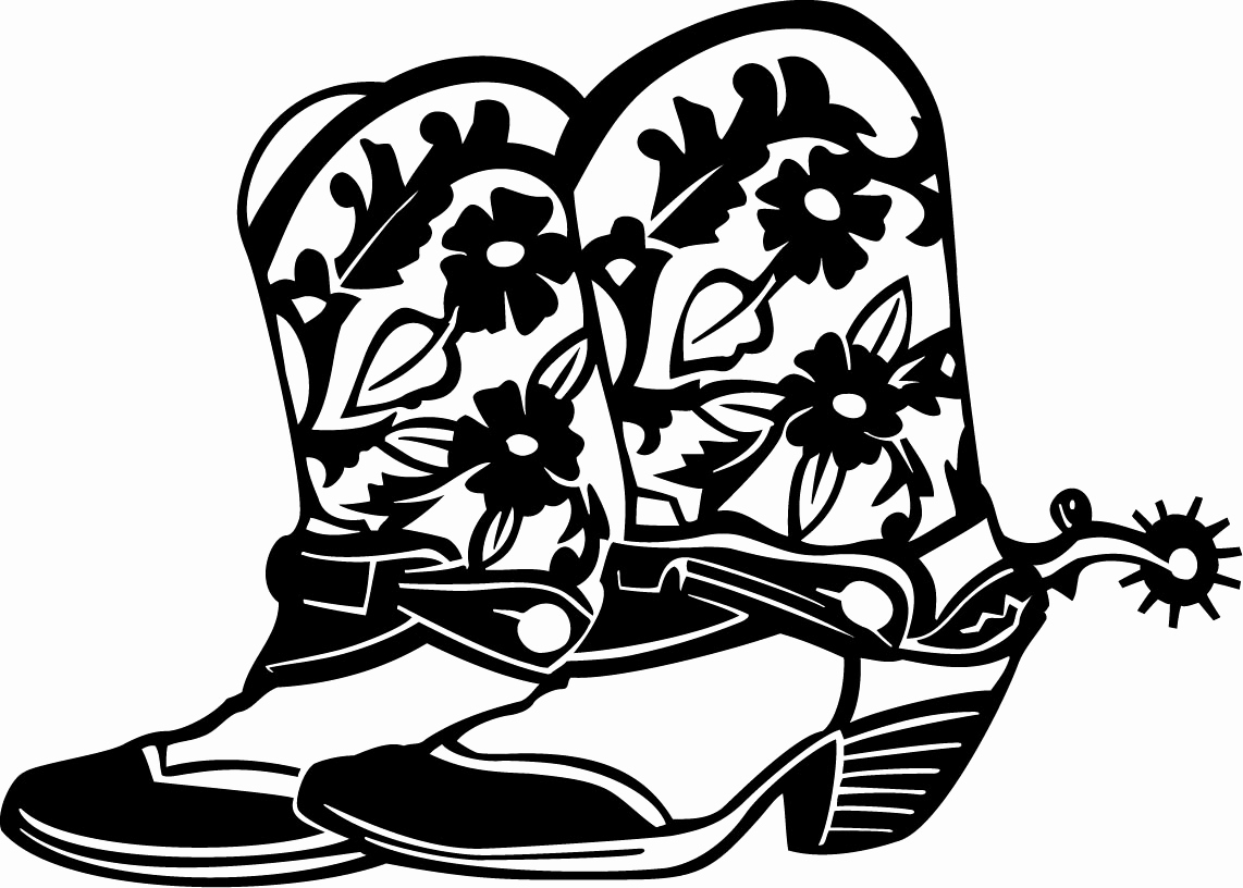 1142x816 Cowboy Boots Coloring Pages