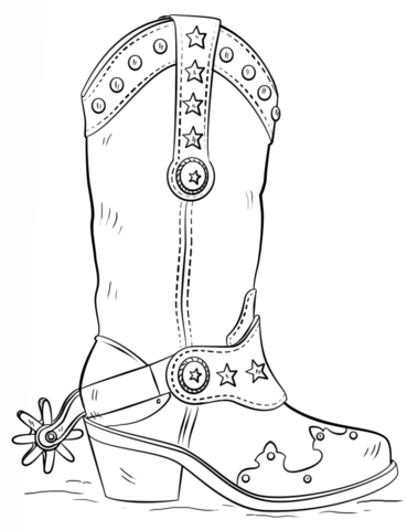 369x480 Cowboy Boots Coloring Pages Cowboy Boot Coloring Page Free