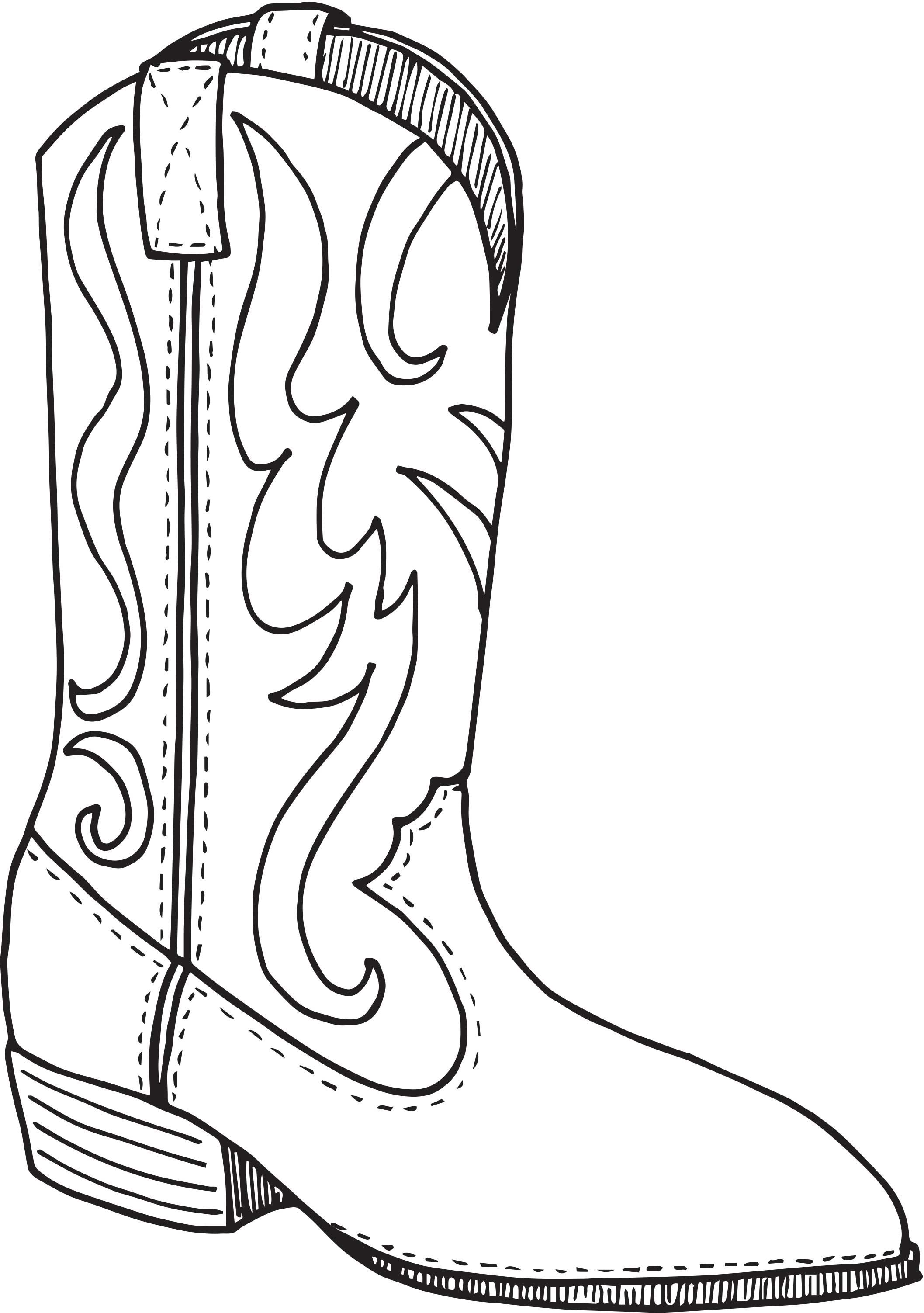 2115x3005 Day Cowboy Boot Coloring Page Vbx Cactusville