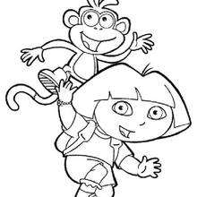 220x220 Dora And Boots Coloring Pages