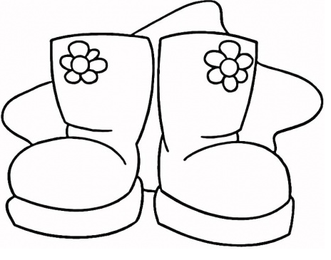 464x365 Printable Boots Coloring Page