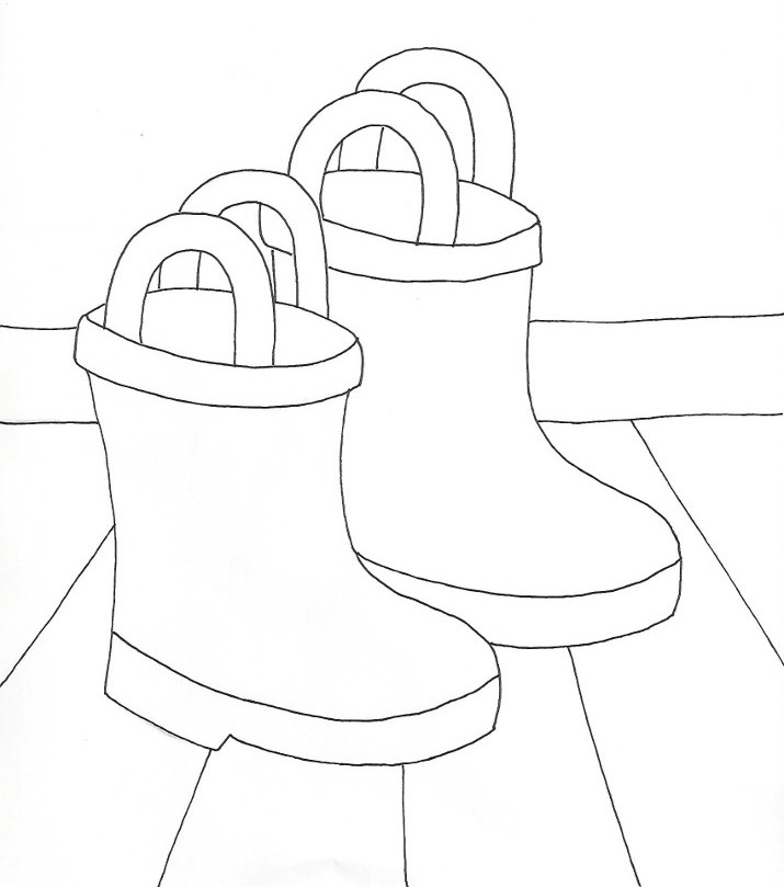 715x809 Rain Boots Coloring Page