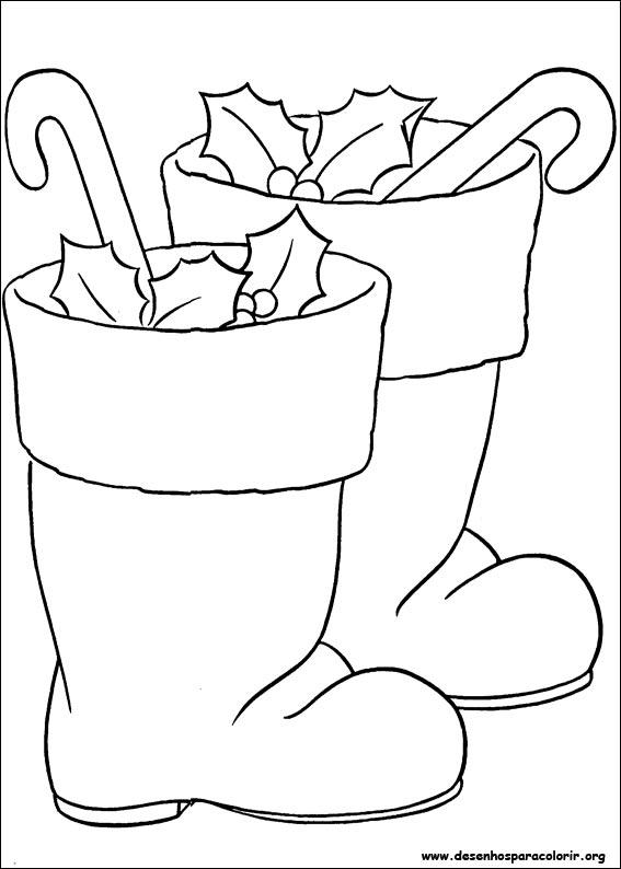 567x794 Santa Claus Boots Coloring Pages