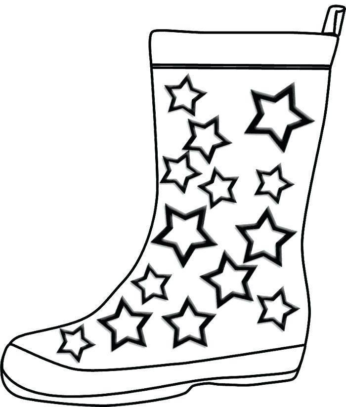 700x824 Boots Coloring Pages