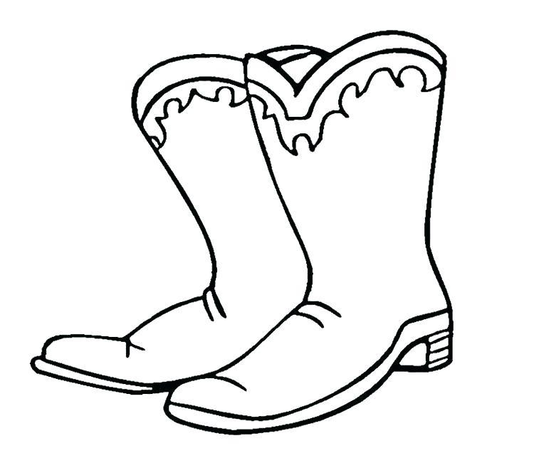 750x664 Coloring Pages Cowboy Boots Devon Creamteas