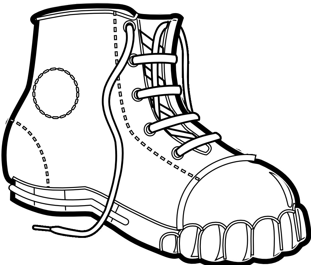 999x850 Cowboy Boot Coloring Page Free Printable Pages For Bookmontenegro
