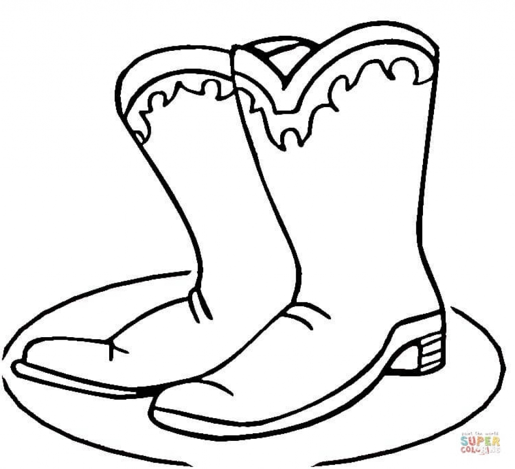 1024x932 Cowboy Boots Coloring Page