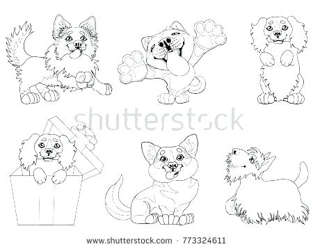 450x358 Corgi Coloring Pages The Set Cute Puppy Dogs Of A Border Collie