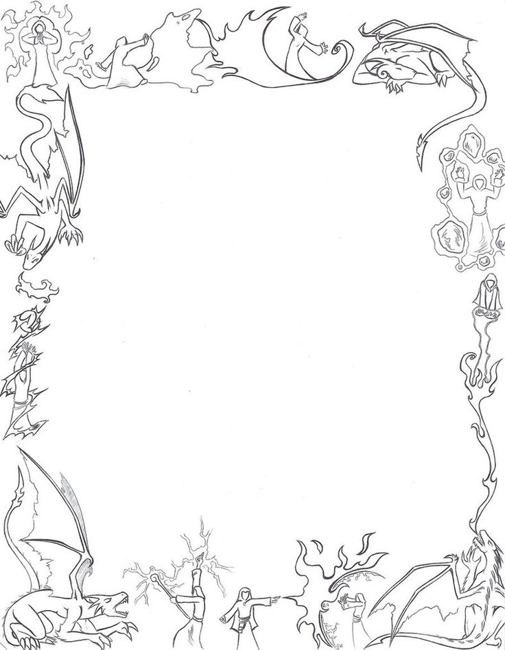 Border Coloring Pages