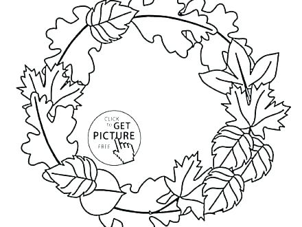 440x330 Autumn Leaves Coloring Pages Printable Fall Leaf Border Autumn