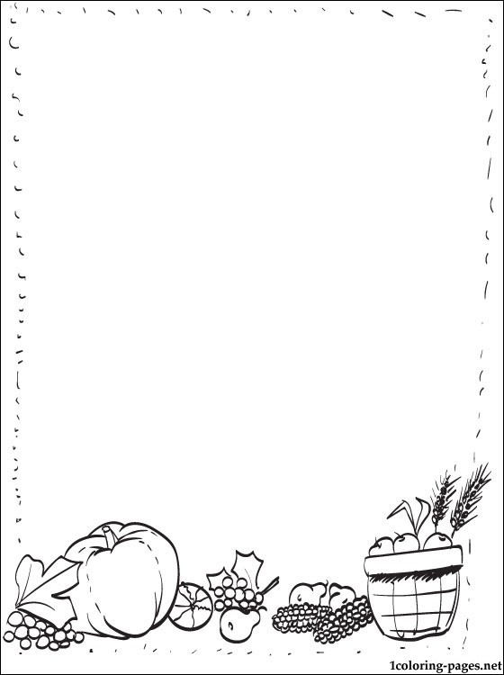 560x750 Frame Border For Thanksgiving Coloring Pages
