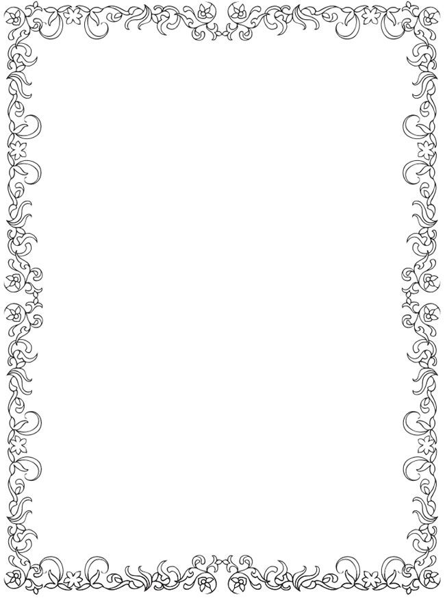 650x873 Picture Frames Coloring Pages For Christmas