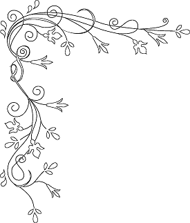 275x323 Flower Border Coloring Page Art Coloring Pages