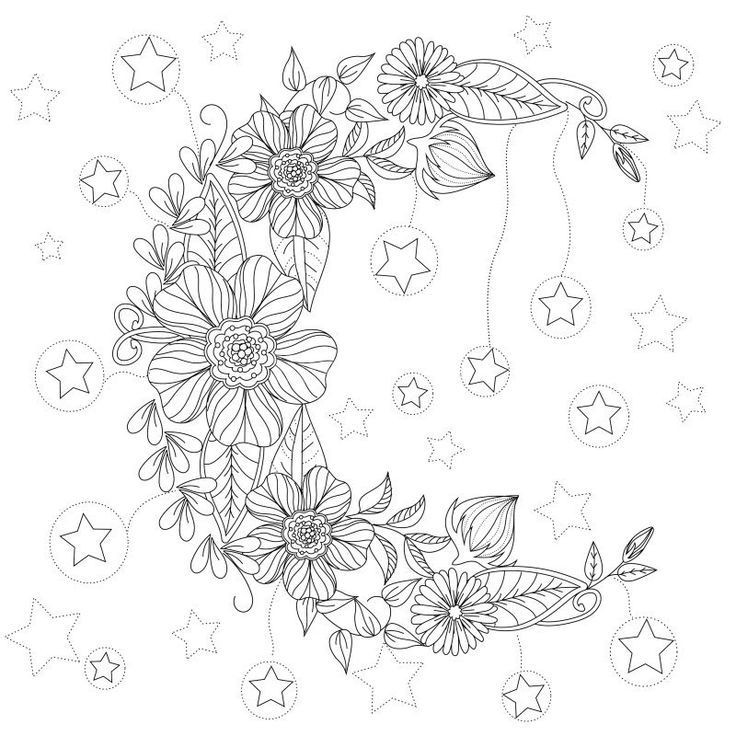 736x736 Colouring Pages Borders Luxury Floral Moon Coloring Page Design Ms