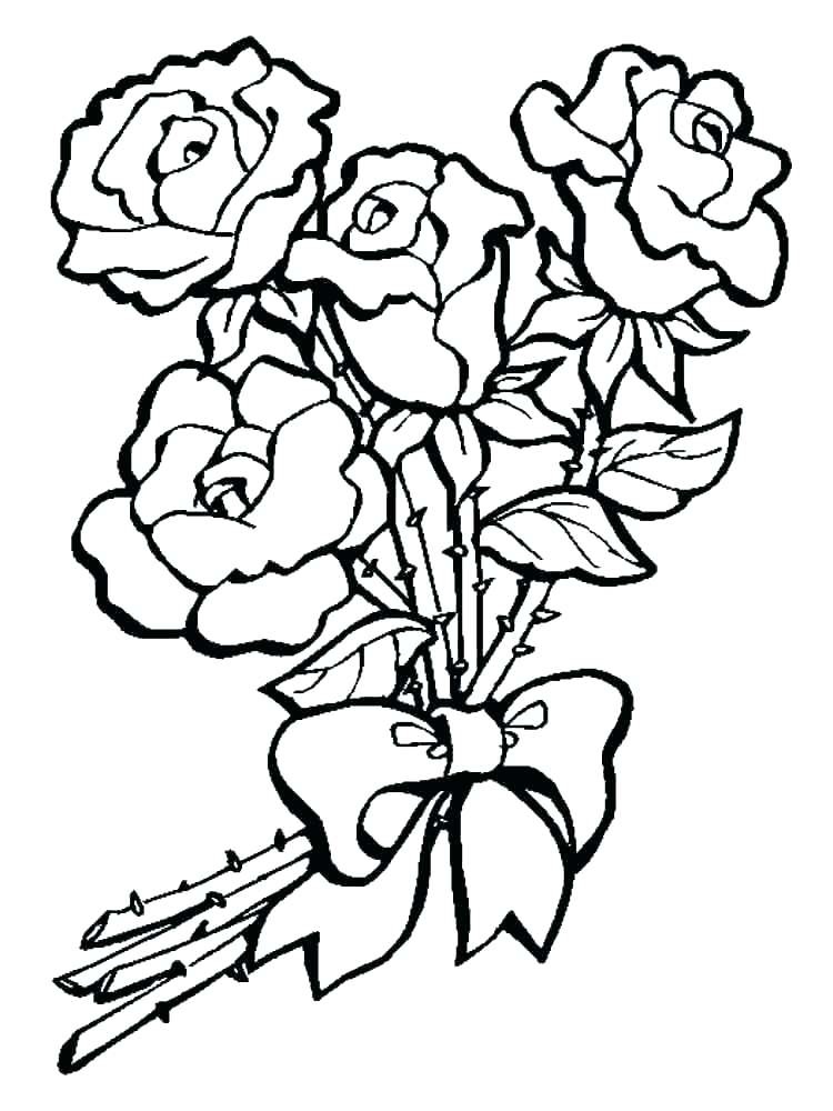 750x1000 Flowers Coloring Page Coloring Pages Rose Rose Coloring Rose