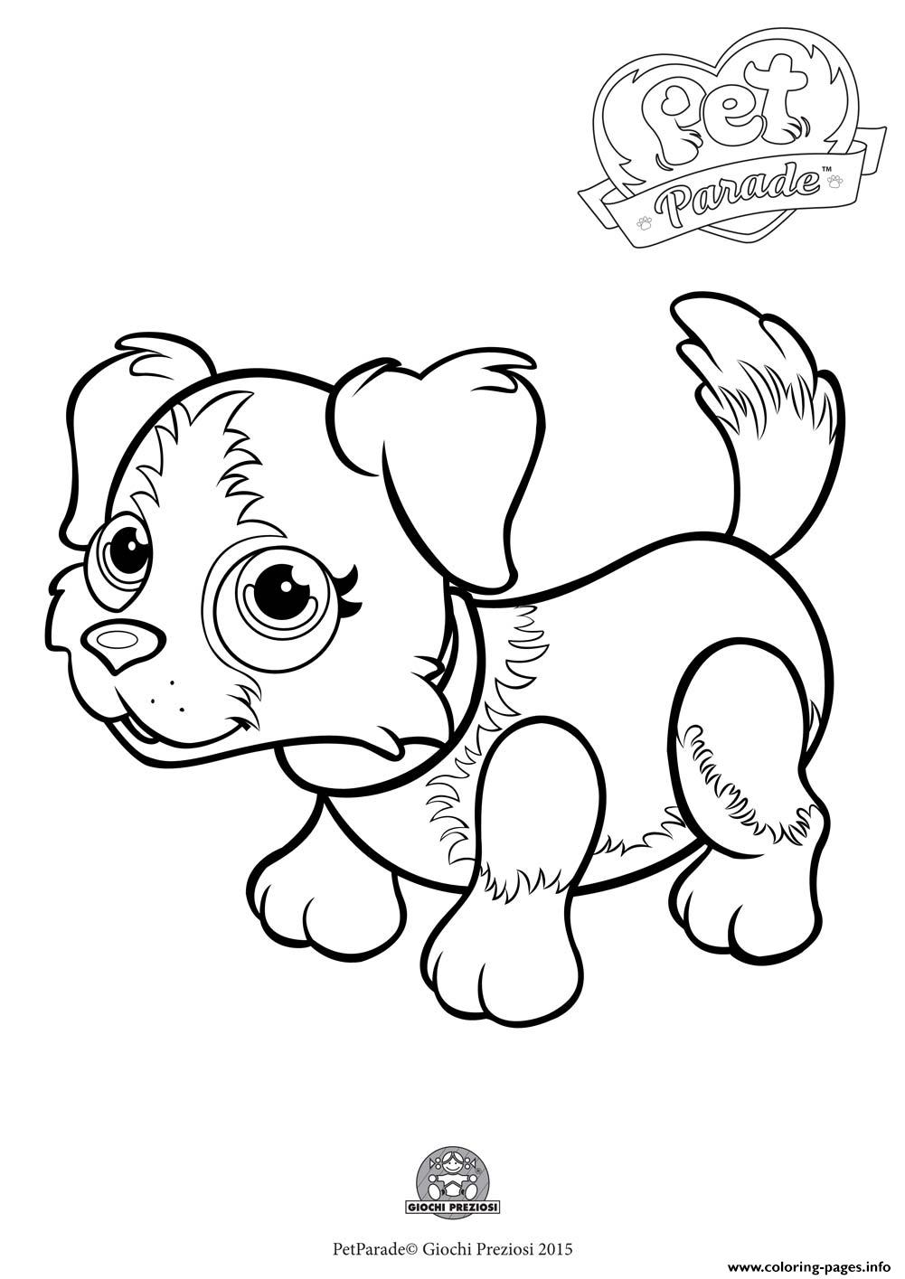1001x1415 Pet Parade Cute Dog Border Collie Coloring Pages Printable