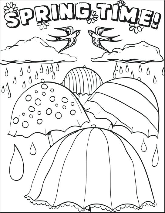 544x700 Spring Coloring Page Spring Coloring Sheets For First Grade Spring