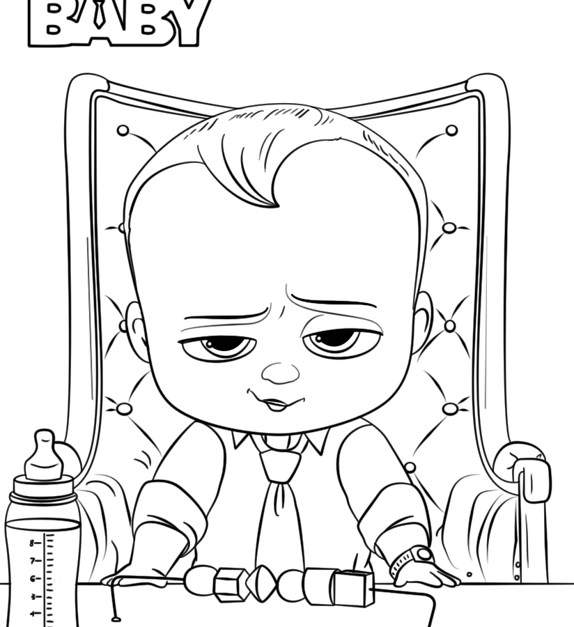 Boss Baby Coloring Pages At Getdrawings Com Free For