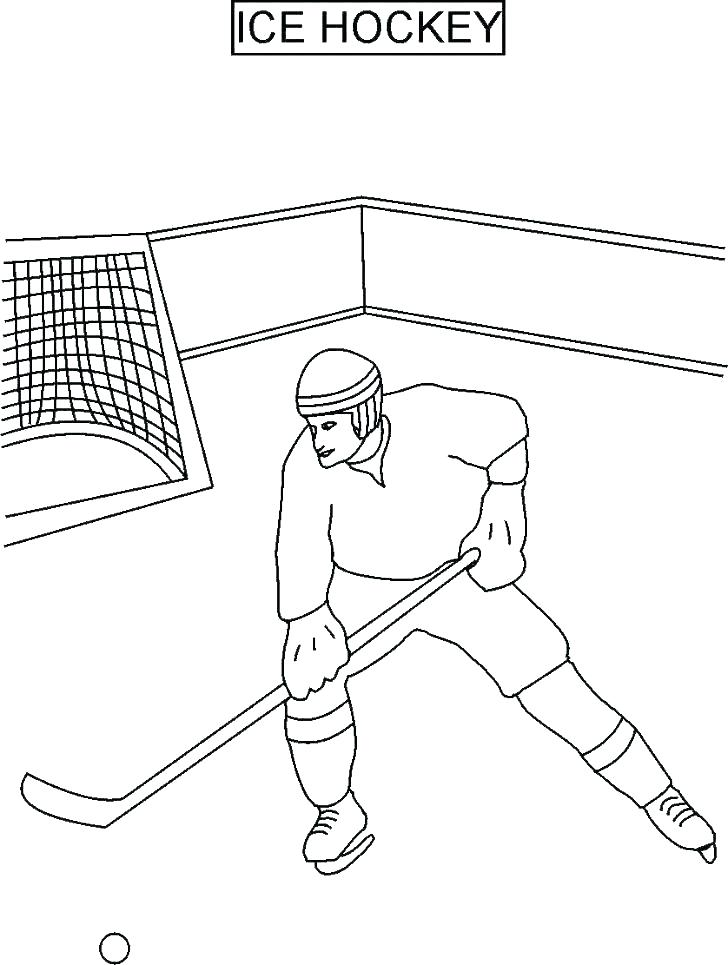 728x965 Hockey Coloring Pages Printable Book And Color Pictures Plus