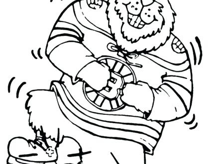 Boston Bruins Coloring Pages At Getdrawings Free Download