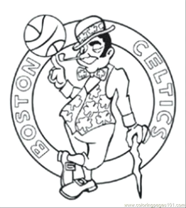 650x726 Boston Celtics Coloring Pages Bunch Ideas Of Coloring Pages