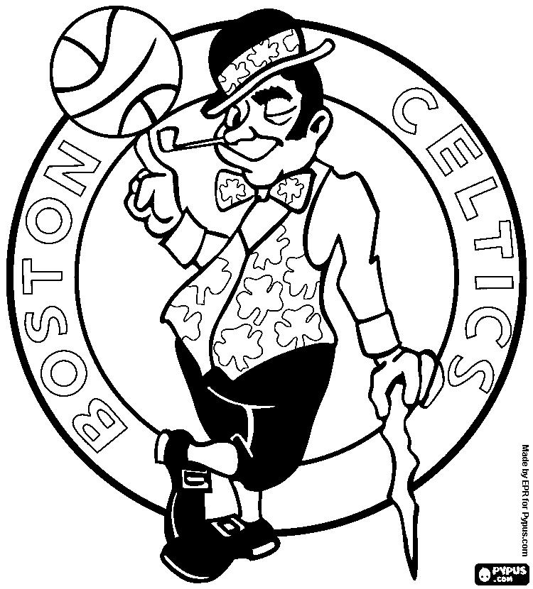 750x830 Boston Celtics Logo Coloring Page