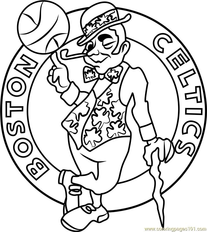 715x800 Boston Celtics Coloring Page