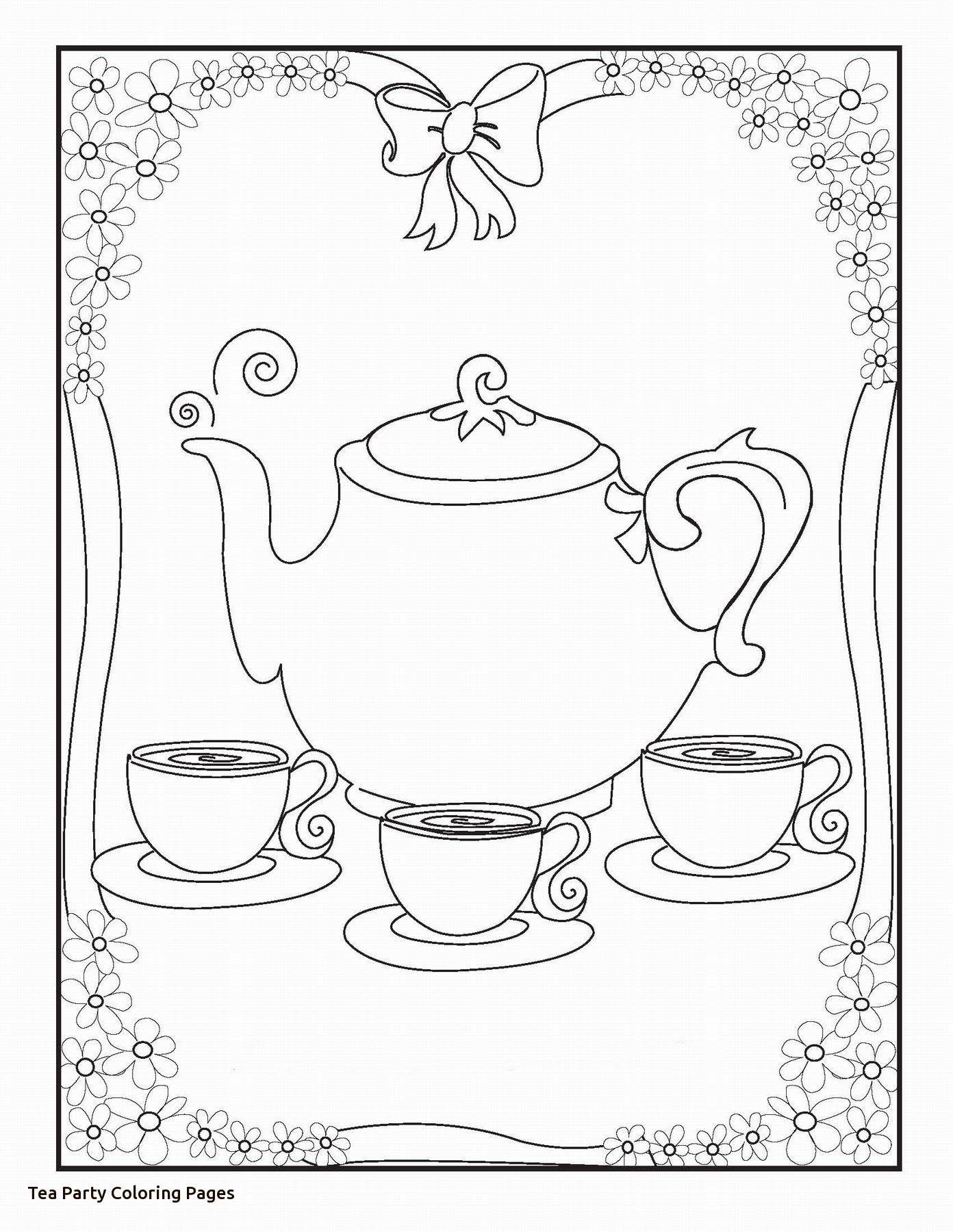 1392x1800 Impressive Design Tea Party Coloring Pages Teacup Boston Page Free