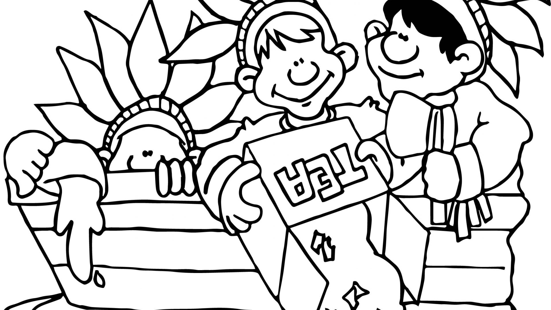 1920x1080 Surprise Coloring Pages Of The Boston Tea Party Page At Rallytv