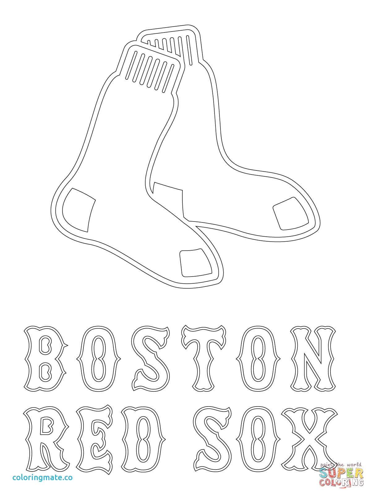 1200x1600 Boston Coloring Pages Lovely Red Sox Kids Az Of Coloriafes Disney