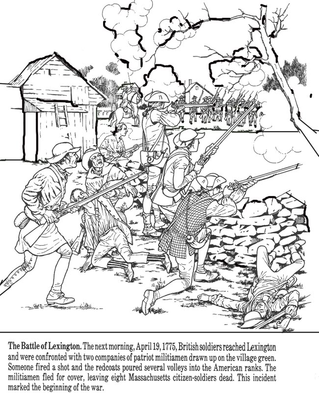 650x800 Boston Massacre Coloring Pages Color Bros