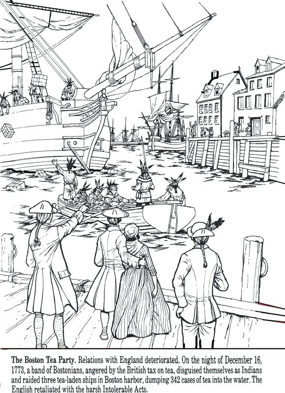 579x799 Boston Massacre Coloring Sheets All Things John Pages Tea Party