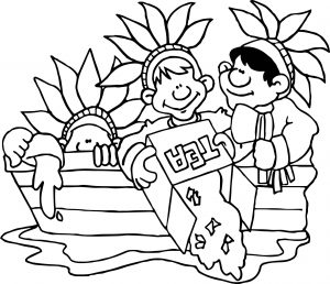 300x258 Boston Tea Party Coloring Page Free Printable Adult Sheets Pages
