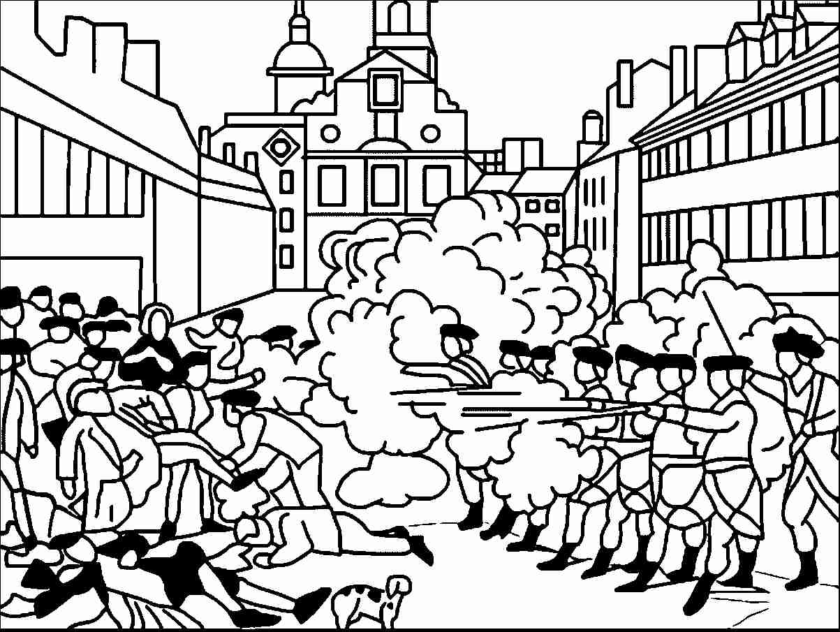 1203x905 Beautiful Revolutionary War Battle Coloring Pages Model