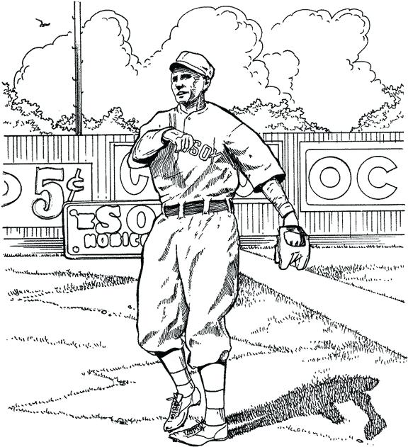 576x631 Colorear Boston Red Sox Red Outfielder Baseball Coloring Page