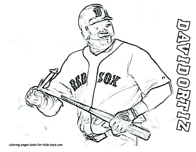 647x500 Coloring Page Red Coloring Pages Baseball Sport Page For Free