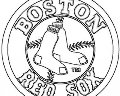 500x401 Red Sox Coloring Pages Red Sox Coloring Pages