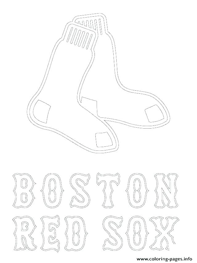 640x853 Small Red Logo Cut Outs From Red Coloring Page Boston Red Sox Logo