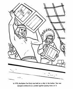 Boston Tea Party Coloring Pages