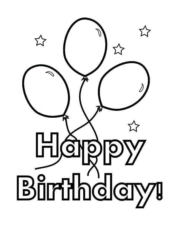 600x848 Party Coloring Pages Birthday Balloons Balloons For Birthday Party