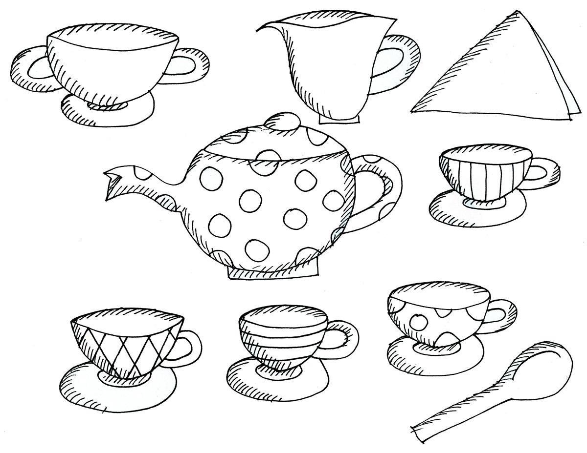1200x928 Trend Princess Tea Party Coloring Pages Sudden