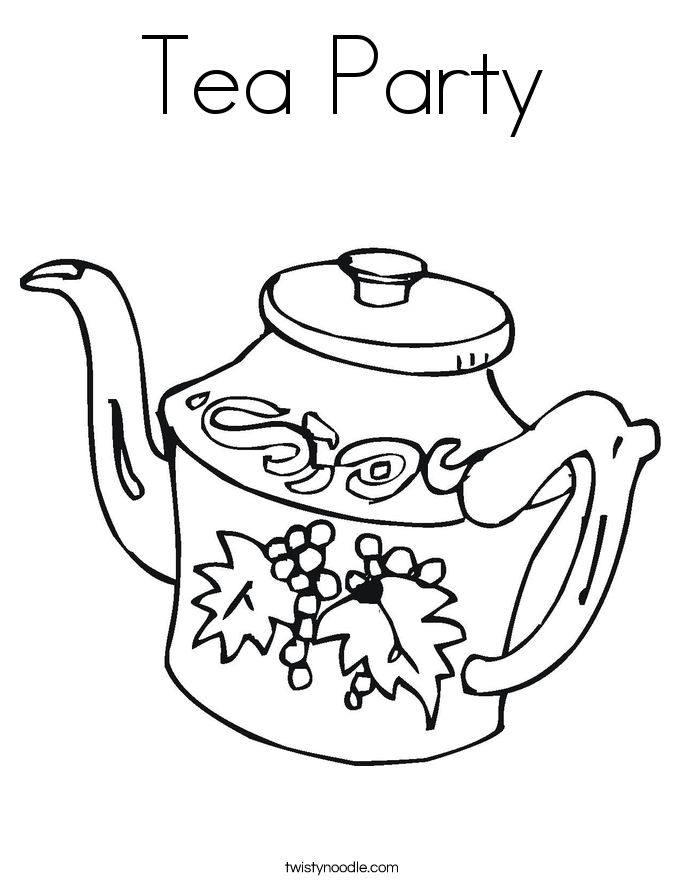 685x886 Best Tea Party Coloring Pages Free Printable