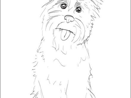 440x330 Boston Terrier Printable Dog Coloring Page Geometric, Boston