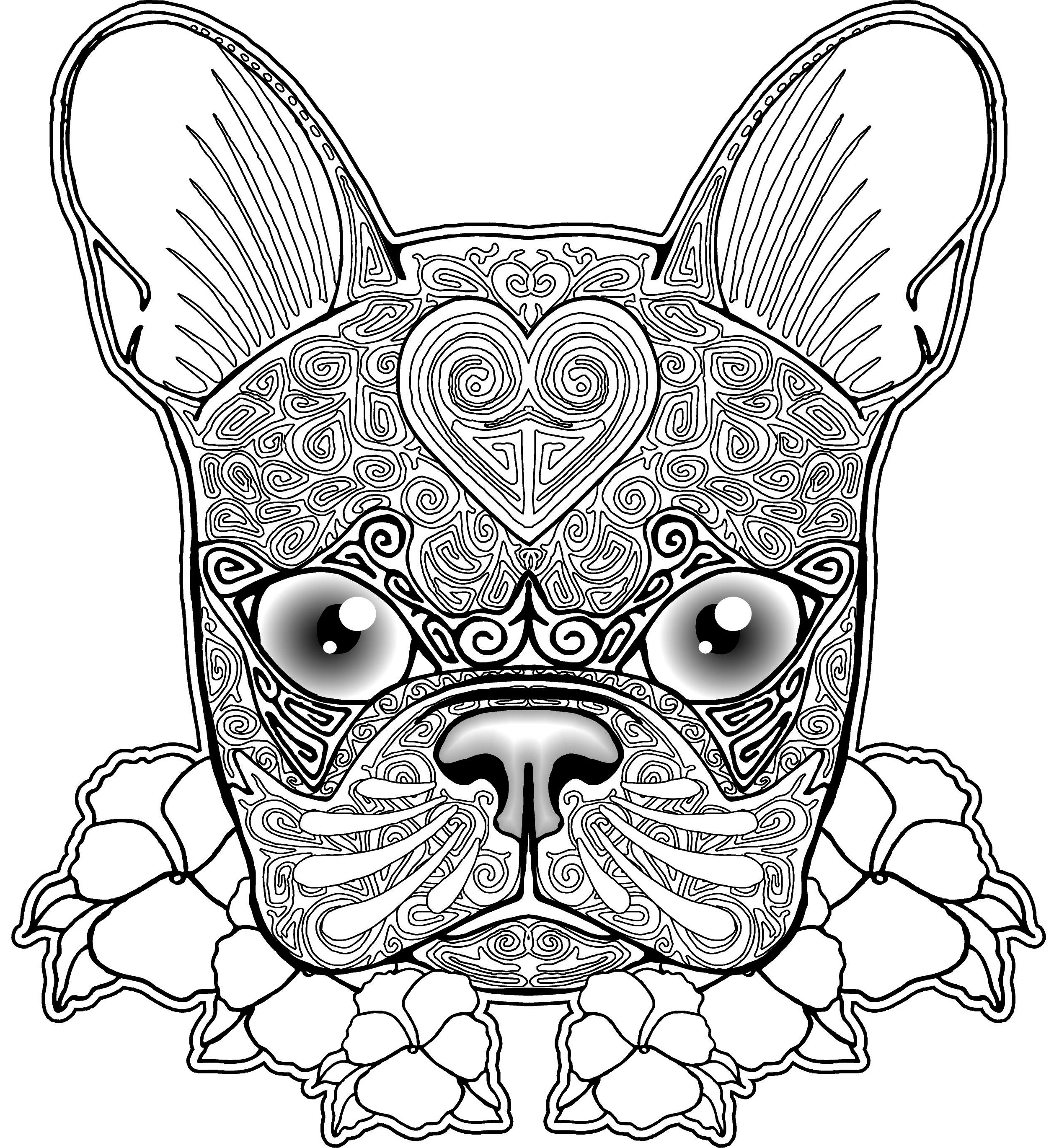2516x2740 Luxury Boston Terrier Coloring Page With Wallpaper High Definition