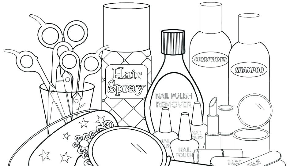 960x544 Shampoo Bottle Coloring Page
