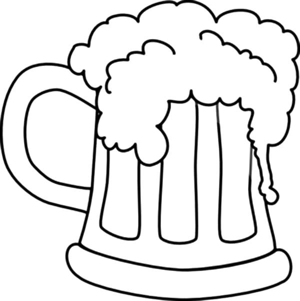 600x602 Beer Bottle Coloring Page