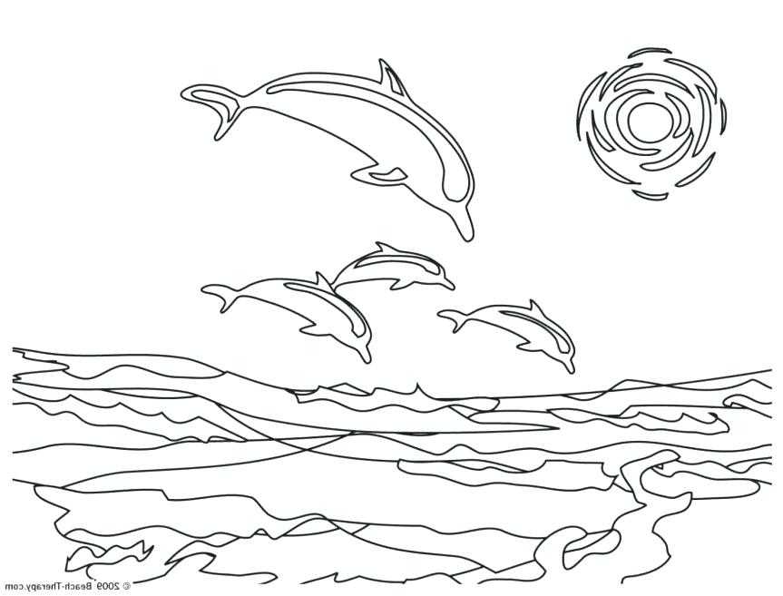 863x657 Dolphin Coloring Pages Coral Reef Fish Dolphin Coloring Dolphin