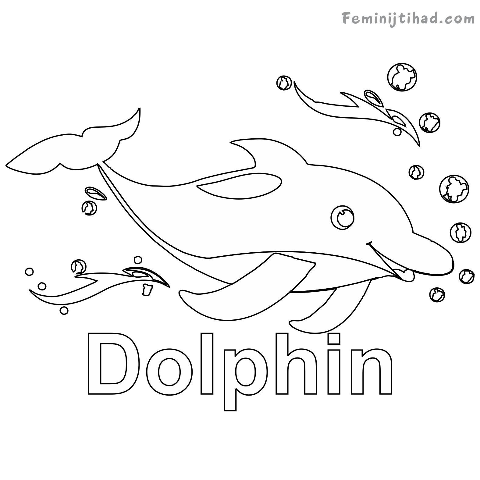 1575x1575 Dolphin Coloring Pages Printable Coloring Pages For Kids